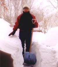 shoveling  photo